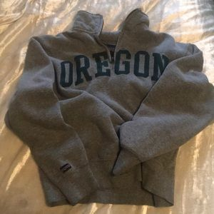 Oregon gray quarter zip sweatshirt
